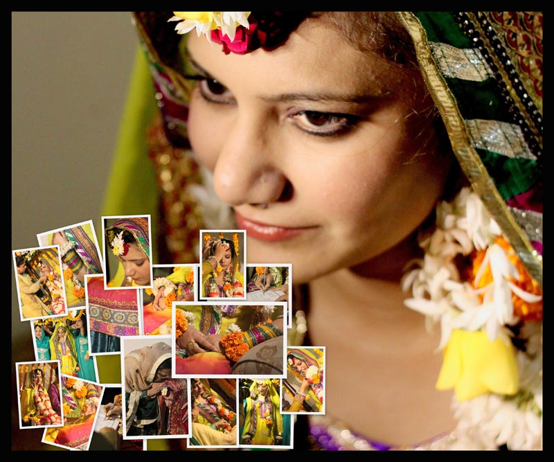 bride collage